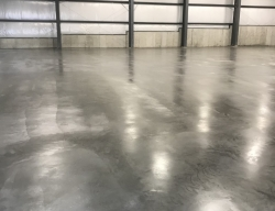 residential foundation stained concrete floor