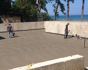 Horton Concrete Broomed concrete finish