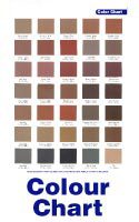 Hortons Concrete colour chart
