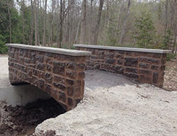 Walkway concrete stamped bridges in owen sound